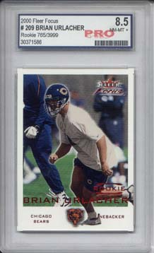 2000 Fleer Focus #209 Brian Urlacher RC