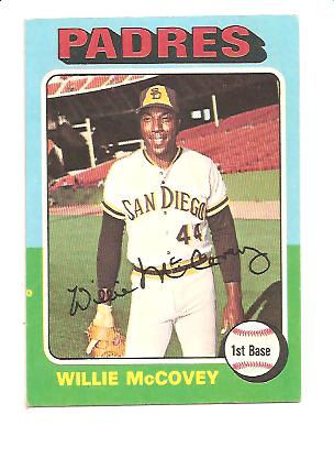 1975 Topps #450 Willie McCovey