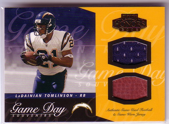 2003 Playoff Honors Game Day Souvenirs Bronze #GDS9 LaDainian Tomlinson