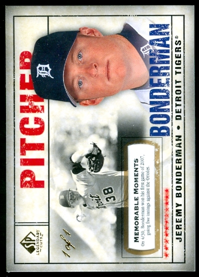2008 SP Legendary Cuts Memorable Moments #76 Jeremy Bonderman