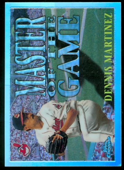 1996 Topps Chrome Masters of the Game Refractors #2 Denny Martinez
