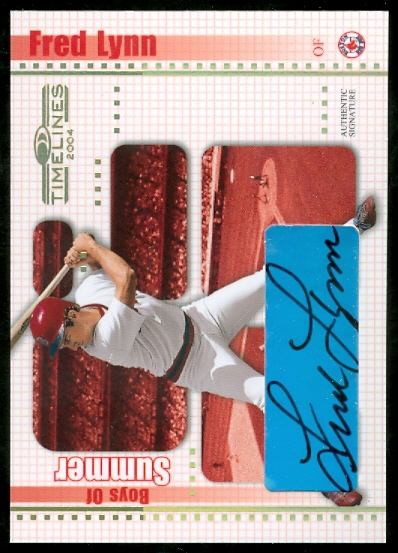 2004 Donruss Timelines Boys of Summer Autograph Gold #15 Fred Lynn