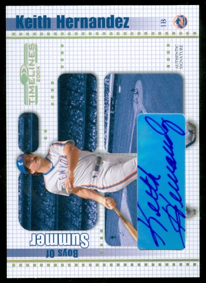 2004 Donruss Timelines Boys of Summer Autograph Gold #20 Keith Hernandez front image