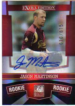 2010 Donruss Elite Extra Edition #173 Jason Martinson AU/815