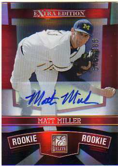 2010 Donruss Elite Extra Edition #174 Matt Miller AU/585