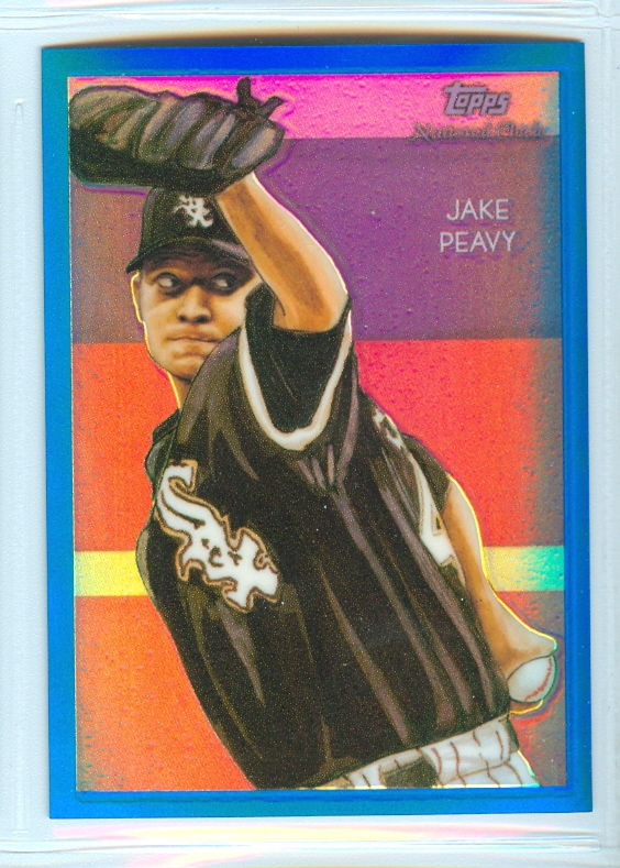 2010 Topps Chrome National Chicle Blue Refractors #CC41 Jake Peavy