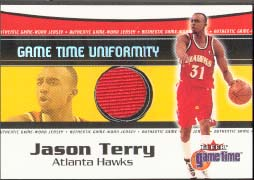 2000-01 Fleer Game Time Uniformity Jason Terry