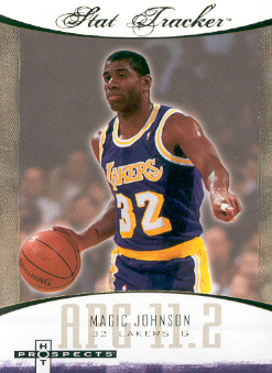 2007-08 Fleer Hot Prospects Stat Tracker #24 Magic Johnson