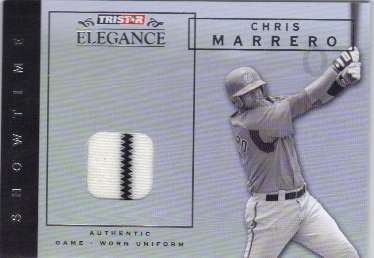 2007 TRISTAR Elegance Showtime Game Used #CM Chris Marrero