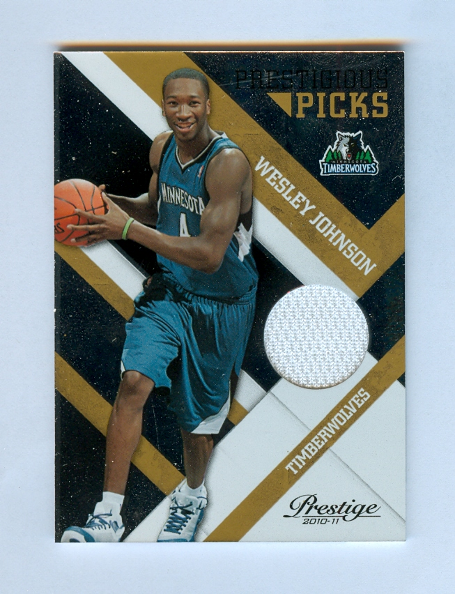 2010-11 Prestige Prestigious Picks Materials Gold #4 Wesley Johnson