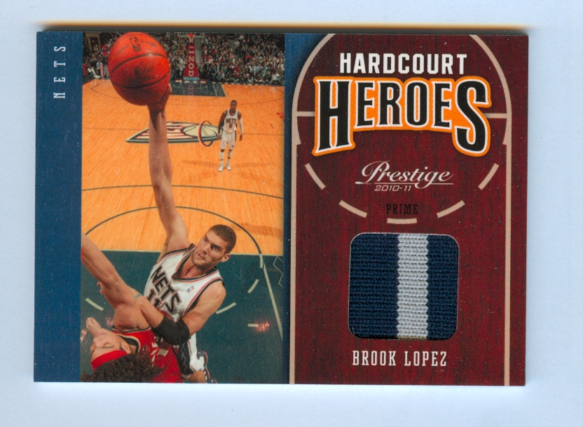 2010-11 Prestige Hardcourt Heroes Materials Prime #20 Brook Lopez/25