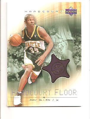 2003-04 Upper Deck Hardcourt Floor #RAF Ray Allen