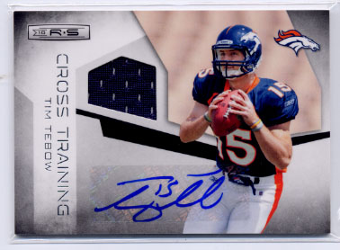 2010 Rookies and Stars Crosstraining Materials Autographs #10 Tim Tebow/25