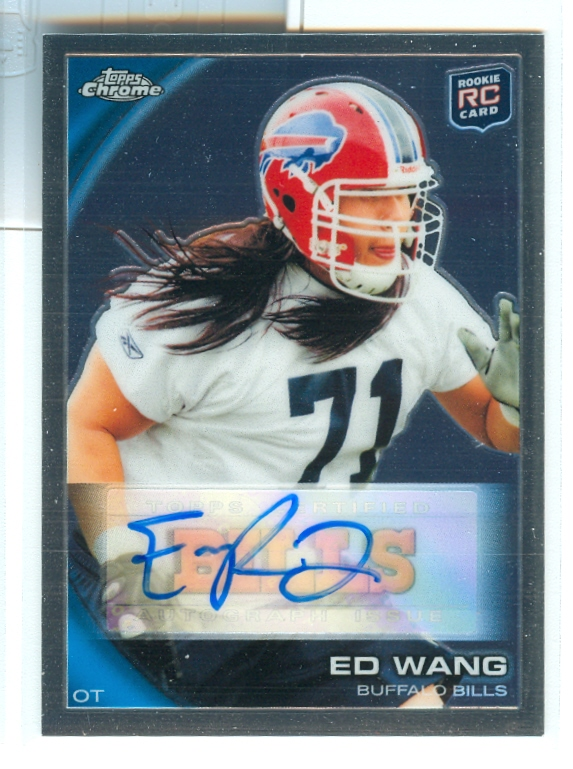 2010 Topps Chrome Rookie Autographs #C23 Ed Wang B