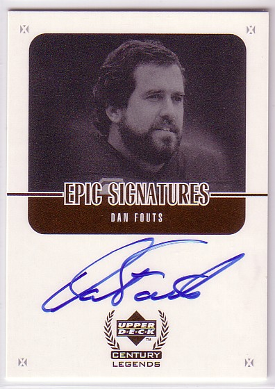 1999 Upper Deck Century Legends Epic Signatures #DF Dan Fouts