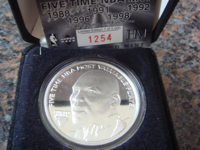 Michael Jordan The Hyland Mint One Troy Ounce .999 Fine Silver Coin