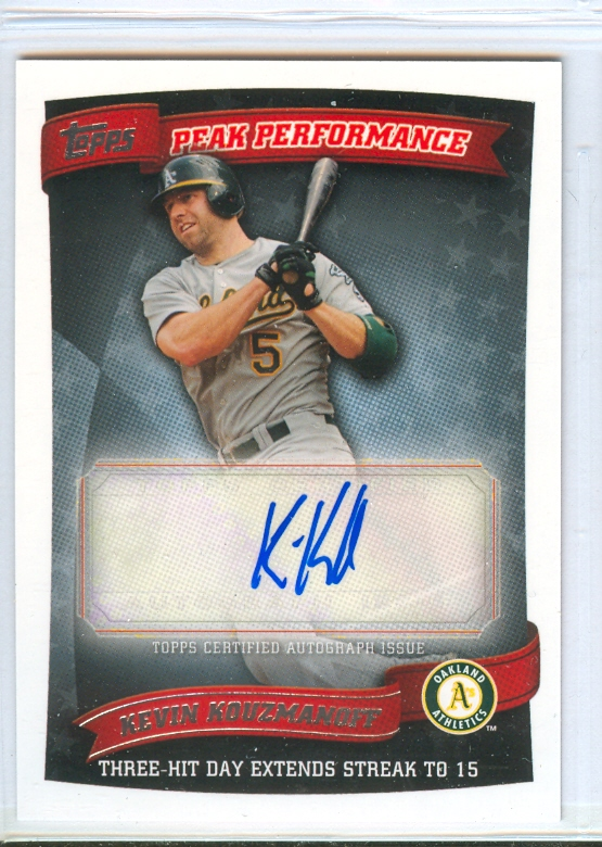 2010 Topps Peak Performance Autographs #KK Kevin Kouzmanoff UPD B
