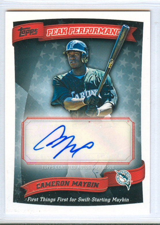 2010 Topps Peak Performance Autographs #CM Cameron Maybin C2