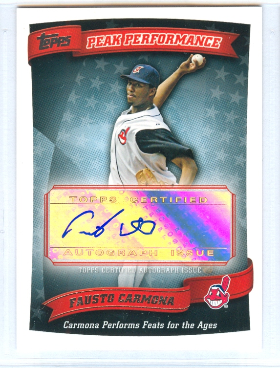2010 Topps Peak Performance Autographs #FC Fausto Carmona B2