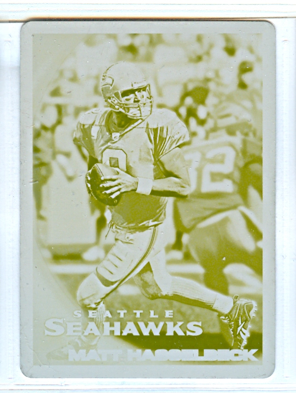 2010 Topps Printing Plates Yellow #342 Matt Hasselbeck