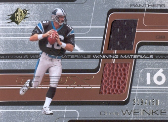 2001 SPx Winning Materials #WMCW1 Chris Weinke/750