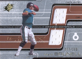 2001 SPx Winning Materials #WMMB1 Mark Brunell/300