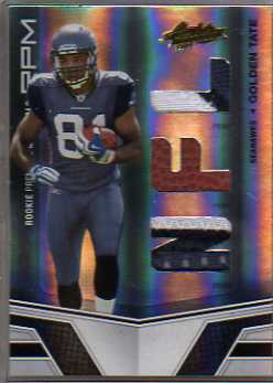 2010 Absolute Memorabilia Rookie Premiere Materials NFL Spectrum Prime #216 Golden Tate