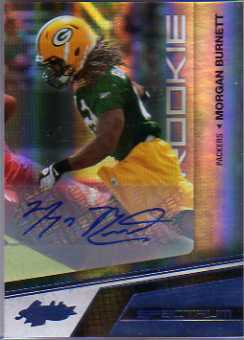 2010 Absolute Memorabilia Spectrum Platinum Autographs #172 Morgan Burnett/25