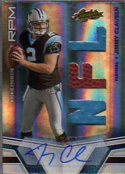 2010 Absolute Memorabilia #202 Jimmy Clausen RPM AU RC