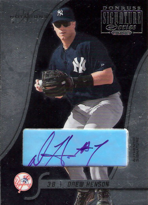 2003 Donruss Signature Autographs Notations #62C Drew Henson DH #7/73