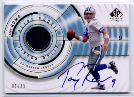 2008 SP Authentic Retro Rookie Jerseys Autographs #RRTR Tony Romo