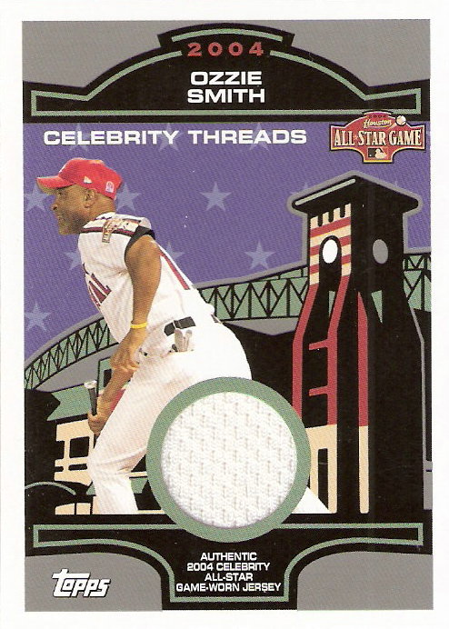 2005 Topps Celebrity Threads Jersey Relics #OS Ozzie Smith