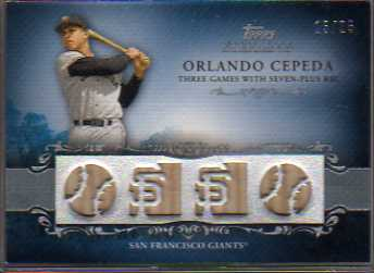 2009 Topps Sterling Career Chronicles Relics Quad #104 Orlando Cepeda