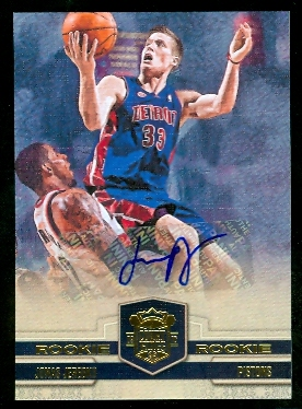 2009-10 Court Kings #131 Jonas Jerebko AU RC