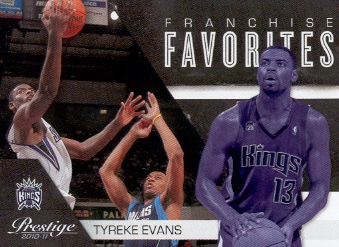 2010-11 Prestige Franchise Favorites #30 Tyreke Evans front image