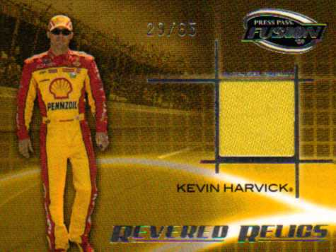2009 Press Pass Fusion Revered Relics Silver #RRKH Kevin Harvick/65