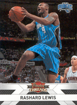 2010-11 Panini Threads #60 Rashard Lewis