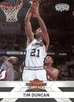 2010-11 Panini Threads #75 Tim Duncan