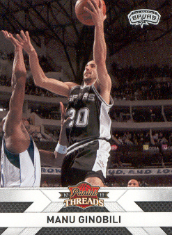 2010-11 Panini Threads #77 Manu Ginobili
