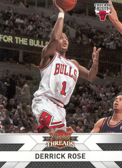2010-11 Panini Threads #100 Derrick Rose front image