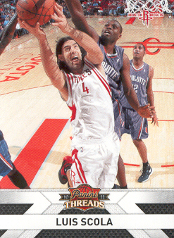 2010-11 Panini Threads #121 Luis Scola