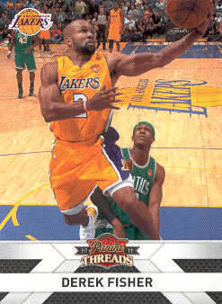 2010-11 Panini Threads #130 Derek Fisher