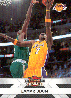 2010-11 Panini Threads #132 Lamar Odom