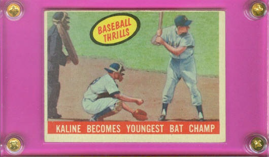1959 Topps #463 Al Kaline BT/Bat Champ