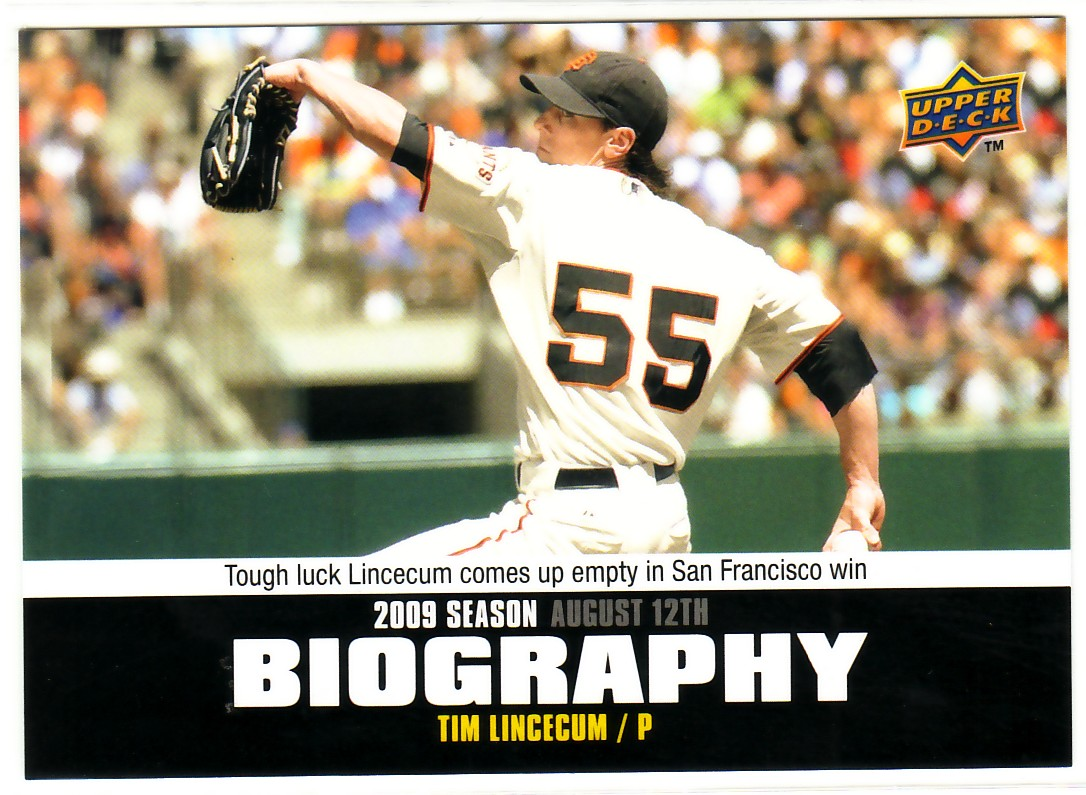 2010 Upper Deck Season Biography #SB147 Tim Lincecum
