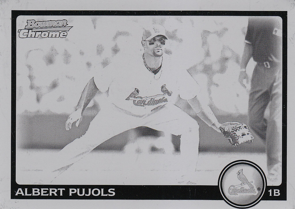 2010 Bowman Chrome Printing Plates Black #142 Albert Pujols