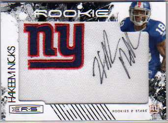 2009 Donruss Rookies and Stars #214 Hakeem Nicks AU RC