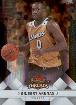 2009-10 Panini Threads Century Proof Silver #38 Gilbert Arenas