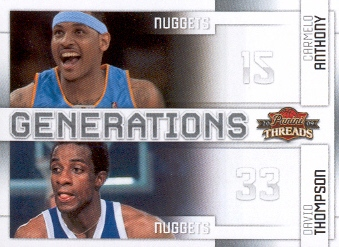 2009-10 Panini Threads Generations #4 Carmelo Anthony/David Thompson