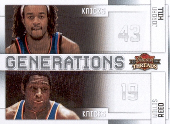 2009-10 Panini Threads Generations #7 Jordan Hill/Willis Reed